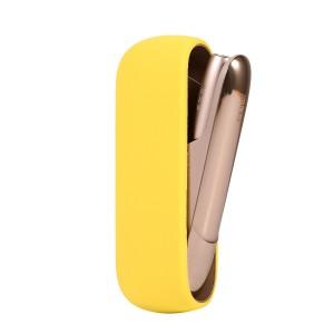 Противоударный силиконовый матовый непрозрачный чехол для IQOS 3.0 Желтый