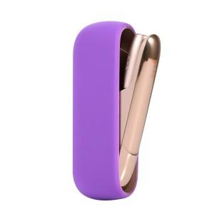 Противоударный силиконовый матовый непрозрачный чехол для IQOS 3.0 Фиолетовый