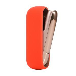 Противоударный силиконовый матовый непрозрачный чехол для IQOS 3.0 Оранжевый