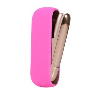 Противоударный силиконовый матовый непрозрачный чехол для IQOS 3.0 Пурпурный