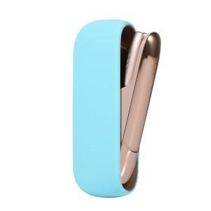 Противоударный силиконовый матовый непрозрачный чехол для IQOS 3.0 Голубой