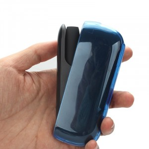 Пластиковый глянцевый полупрозрачный чехол для IQOS 3.0 Синий