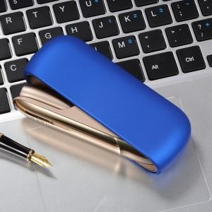 Пластиковый матовый непрозрачный чехол для IQOS 3.0 Синий