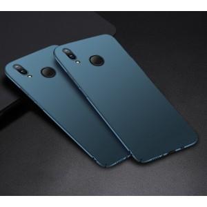 Пластиковый непрозрачный матовый чехол с улучшенной защитой элементов корпуса для Huawei P Smart 2019/Honor 10 Lite Синий