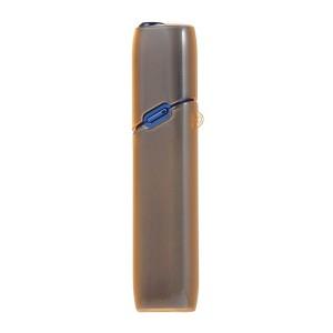 Противоударный силиконовый глянцевый полупрозрачный чехол с ушком для ремешка для IQOS 3 Multi Коричневый