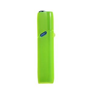 Противоударный силиконовый глянцевый полупрозрачный чехол с ушком для ремешка для IQOS 3 Multi Зеленый