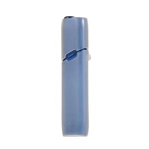 Противоударный силиконовый глянцевый полупрозрачный чехол с ушком для ремешка для IQOS 3 Multi Белый