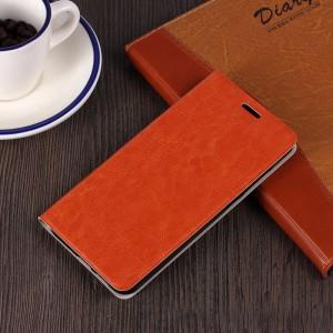 Глянцевый водоотталкивающий чехол флип подставка на силиконовой основе для Samsung Galaxy S7 Коричневый