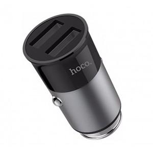 Автомобильный блок питания 2 USB, Hoco, Z17A Серый