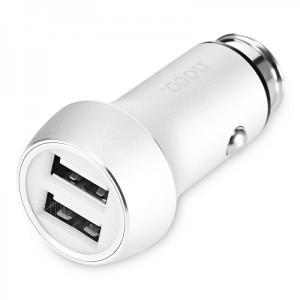 Автомобильный блок питания 2 USB, Hoco, Z7 Серый