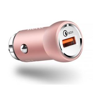Блок питания автомобильный 1 USB, Hoco, Z4 Розовый