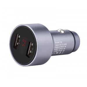 Блок питания автомобильный 2 USB, Hoco, Z9 Серый