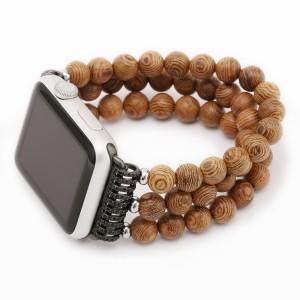 Деревянный ремешок/бусы для Apple Watch Series 4 44мм/Series 1/2/3 42мм