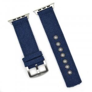Нейлоновый дышащий ремешок для Apple Watch Series 4 44мм/Series 1/2/3 42мм Синий