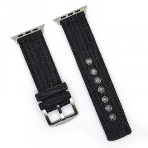 Нейлоновый дышащий ремешок для Apple Watch Series 4 44мм/Series 1/2/3 42мм Черный