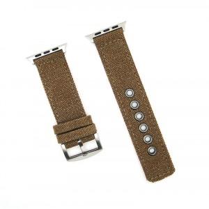 Нейлоновый дышащий ремешок для Apple Watch Series 4 44мм/Series 1/2/3 42мм Коричневый