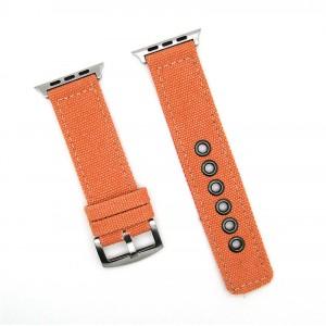 Нейлоновый дышащий ремешок для Apple Watch Series 4 44мм/Series 1/2/3 42мм Оранжевый