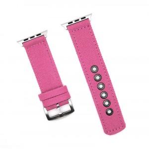 Нейлоновый дышащий ремешок для Apple Watch Series 4 44мм/Series 1/2/3 42мм Пурпурный