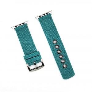 Нейлоновый дышащий ремешок для Apple Watch Series 4 44мм/Series 1/2/3 42мм Зеленый