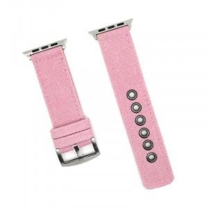 Нейлоновый дышащий ремешок для Apple Watch Series 4 44мм/Series 1/2/3 42мм Розовый