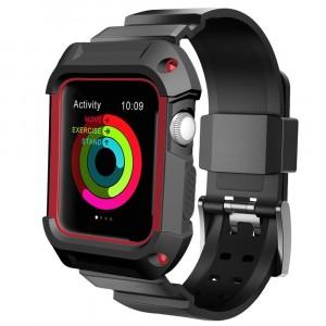 Противоударный силиконовый чехол/ремешок для Apple Watch 42мм Красный