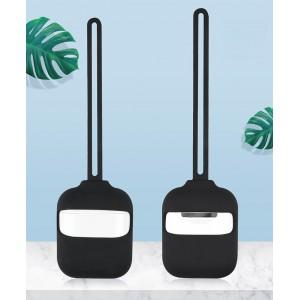 Силиконовый матовый чехол с нашейным силиконовым шнурком для Apple AirPods Черный