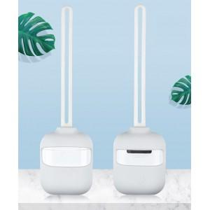 Силиконовый матовый чехол с нашейным силиконовым шнурком для Apple AirPods Белый