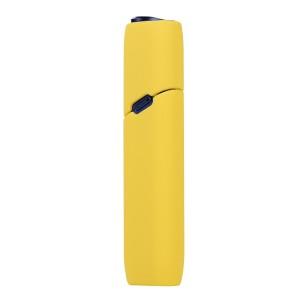 Противоударный силиконовый матовый непрозрачный чехол для IQOS 3 Multi Желтый