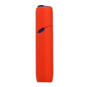 Противоударный силиконовый матовый непрозрачный чехол для IQOS 3 Multi Красный
