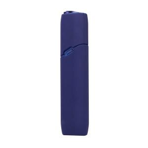 Противоударный силиконовый матовый непрозрачный чехол для IQOS 3 Multi Синий