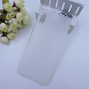 Силиконовый матовый полупрозрачный чехол для Samsung Galaxy A70 Белый