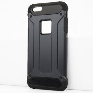 Двухкомпонентный силиконовый матовый непрозрачный чехол с поликарбонатными бампером и крышкой для Iphone 6 Plus/6s Plus Синий