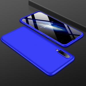 Двухкомпонентный сборный пластиковый матовый чехол для Samsung Galaxy A50  Синий