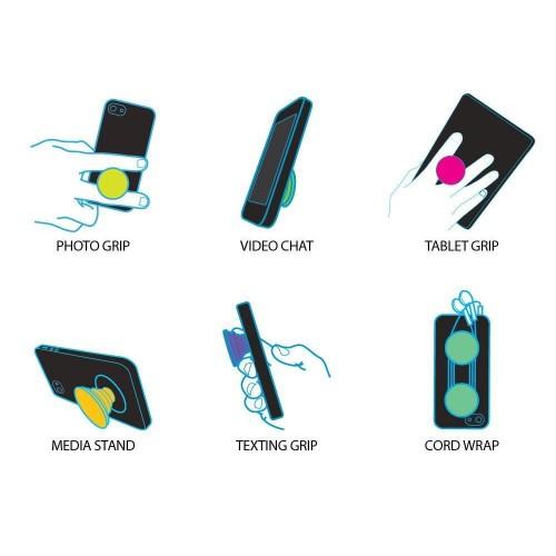 Телескопический держатель/подставка/попсокет с внутренней аква-аппликацией