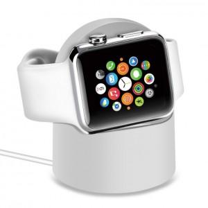 Беспроводное зарядное устройство-подставка (2Вт) для Apple Watch Series 1/2/3/4 Белый