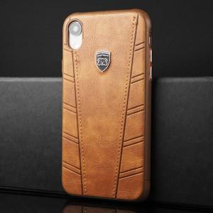 Силиконовый матовый непрозрачный чехол с текстурным покрытием Кожа для Iphone Xr Коричневый