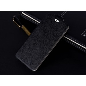 Чехол флип подставка текстура Линии на силиконовой основе для Iphone Xr Черный