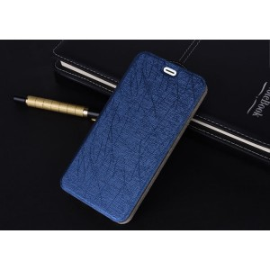 Чехол флип подставка текстура Линии на силиконовой основе для Iphone Xr Синий