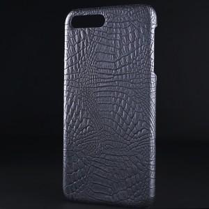 Чехол накладка текстурная отделка Крокодил для Iphone 7 Plus/8 Plus Черный