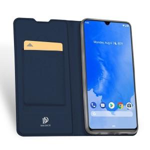 Чехол флип подставка на силиконовой основе с отсеком для карт для Samsung Galaxy A70 Синий