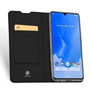 Чехол флип подставка на силиконовой основе с отсеком для карт для Samsung Galaxy A70 Черный