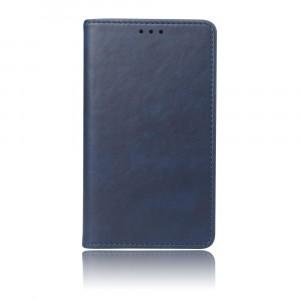 Чехол портмоне подставка на силиконовой основе с отсеком для карт на присосках для Samsung Galaxy A70 Синий