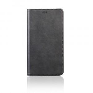 Чехол портмоне подставка на силиконовой основе с отсеком для карт на присосках для Samsung Galaxy A70 Черный