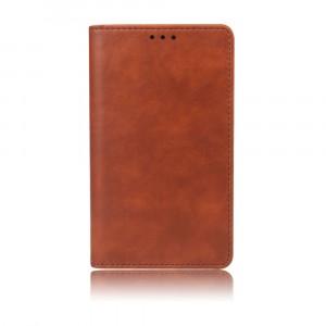 Чехол портмоне подставка на силиконовой основе с отсеком для карт на присосках для Samsung Galaxy A70 Коричневый