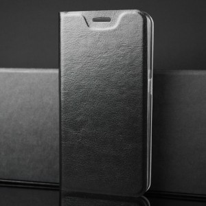 Глянцевый водоотталкивающий чехол флип подставка на силиконовой основе с отсеком для карт для Samsung Galaxy A70 Черный