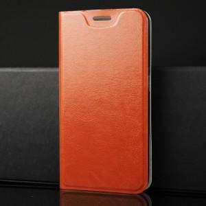 Глянцевый водоотталкивающий чехол флип подставка на силиконовой основе с отсеком для карт для Samsung Galaxy A70 Коричневый