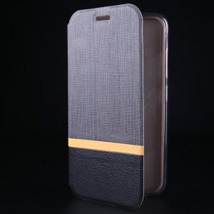 Чехол флип подставка на силиконовой основе с тканевым покрытием для Asus ZenFone 3 5.2 Серый