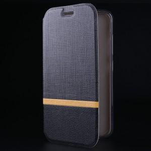 Чехол флип подставка на силиконовой основе с тканевым покрытием для Asus ZenFone 3 5.2 Черный