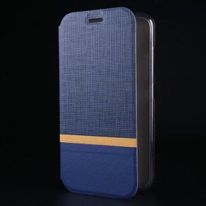 Чехол флип подставка на силиконовой основе с тканевым покрытием для Asus ZenFone 3 5.2 Синий