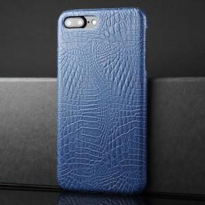 Чехол накладка текстурная отделка Крокодил для Iphone 7 Plus/8 Plus Синий